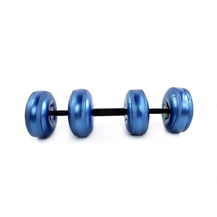 Haltères réglables, haltères remplis d'eau, équipement de fitness écologique (8 ~ 10 kg bleu)
