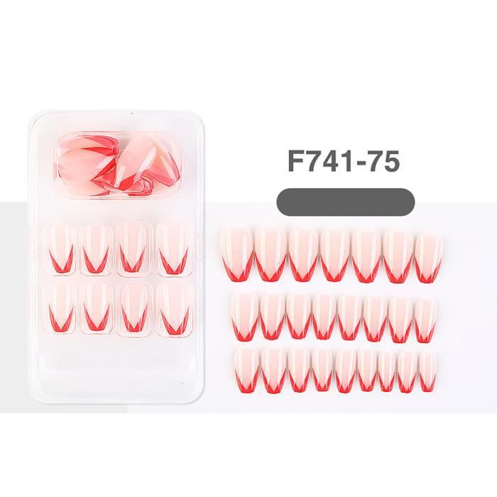 Tonsee® Faux ongles autocollants ongles portables ongles finis ongles amovibles européens _cdt112