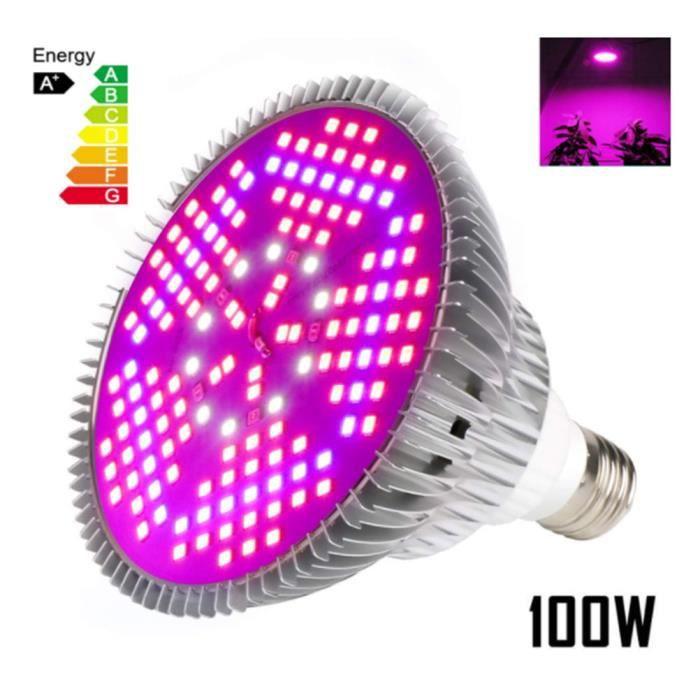 Lampe Croissance Plant Spectre complet Éclairage horticole LED 100w