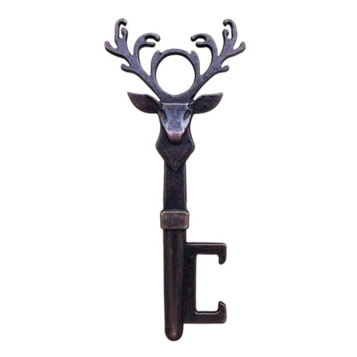 Ouvre-bouteille de bière tête de cerf - Vintage en métal, pour fête cadeau, Bar cuisine, design - Modèle: Red Copper - WMKPQA08875