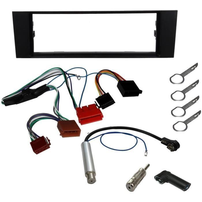 AERZETIX - Kit de Montage d'Autoradio Standard - Façade, Faisceau, Adaptateur, Amplificateur d'antenne, Clés extracteur de démon152