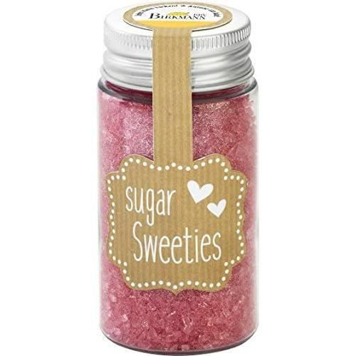 Knusper.haus Cristaux de sucre (9 couleurs-75 g) Couleur au choix (rose)[392]