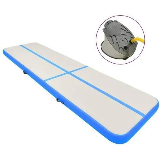 3M- matelas de gymnastique gonflable Gym dégringolade Air piste plancher culbutant Air piste tapis - bleu