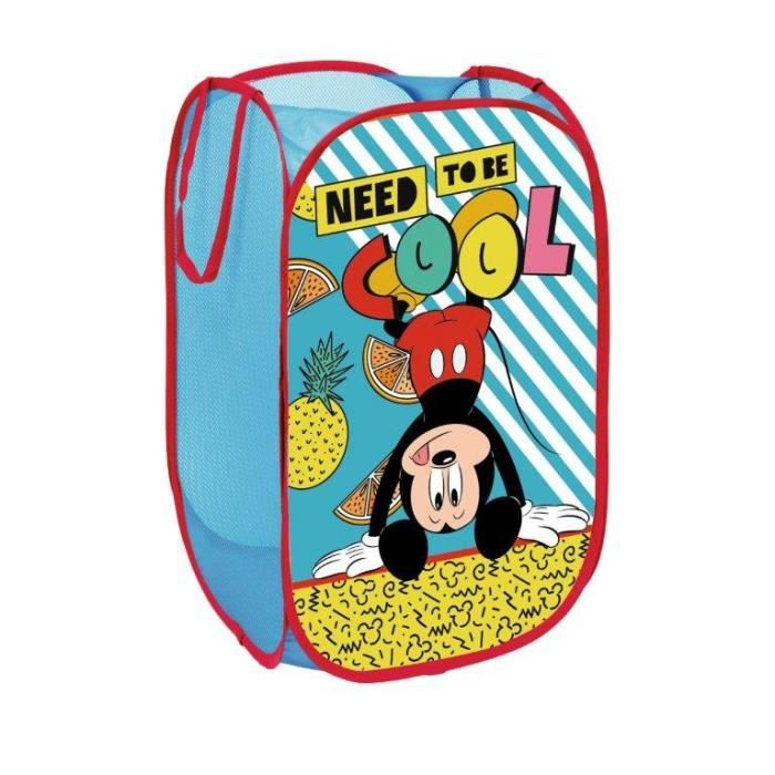 Panier à Linge - Coffre à jouets Rangement Disney Mickey Mouse