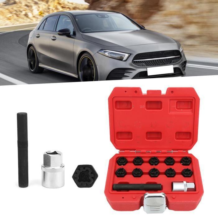 12 pièces antivol verrouillage écrou de roue ensemble de douilles installateur de dissolvant adapté pour Benz classe-YID