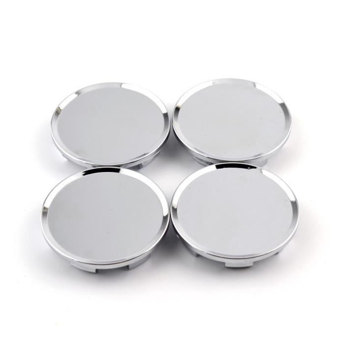 Silver -Centre de roue en alliage noir ABS, 51mm, 45mm, 4 pièces-lot, couvercle de moyeu, Badge de pneu de voiture, pour camion