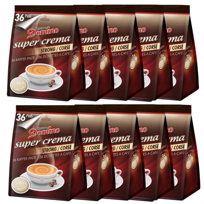 DOMINO Café corsé Lot de 360 dosettes