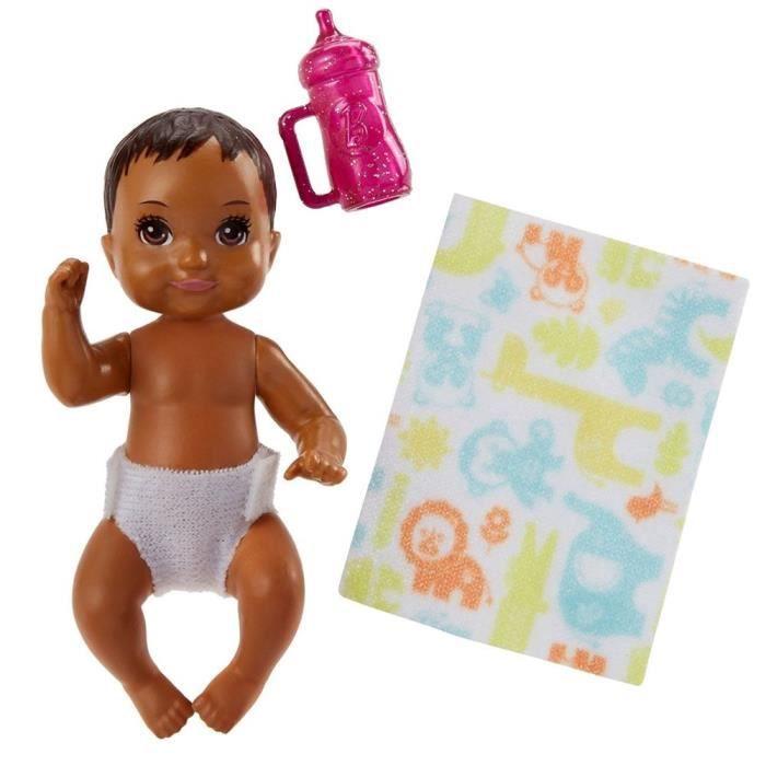 Bébé Poupée Marron Foncé - Mattel FHY81 - Skipper Babysitter - Family Barbie