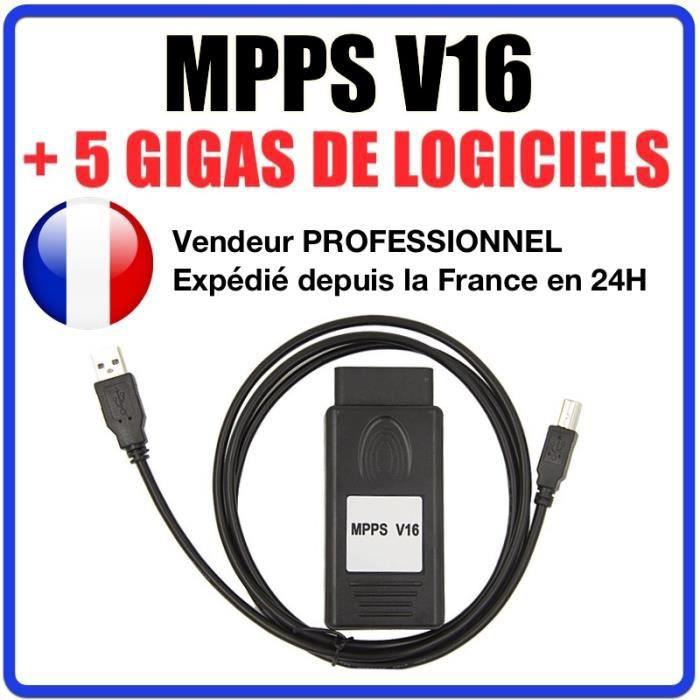 MPPS V16 PRO - REPROGRAMMATION CARTOGRAPHIE DEFAPAGE EGR FAP AIRBAG - ECUSAFE IMMOKILLER