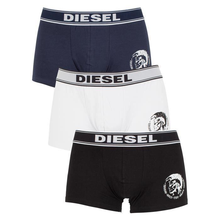 Diesel Homme Shawn Trois Paquet Logo Trunks, Gris