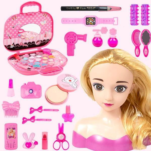 Cadeau d'anniversaire cadeau de Noël-Charlene Super Model-Tête à Coiffer et Maquiller avec Accessoires, Cheveux Blonde 06