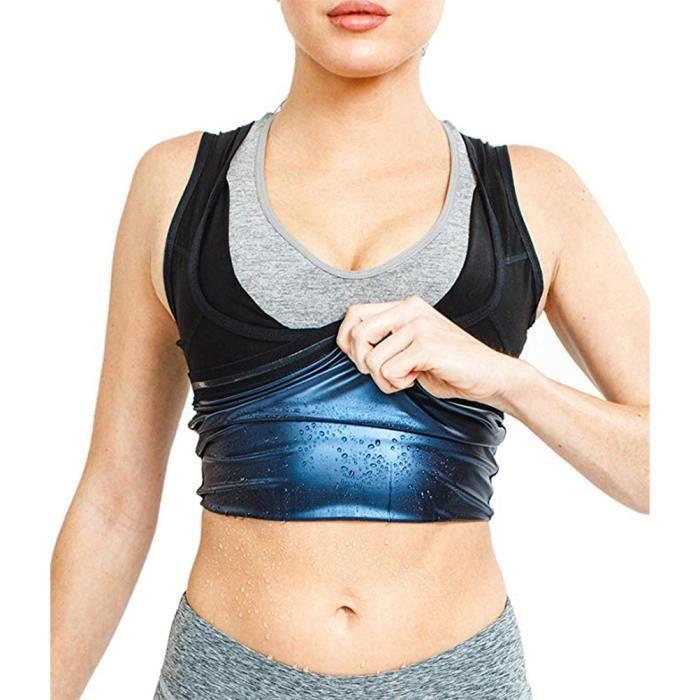 Gilet de Sport Femme Corps de Fitness Brûlant de la Graisse Abdominale S-M