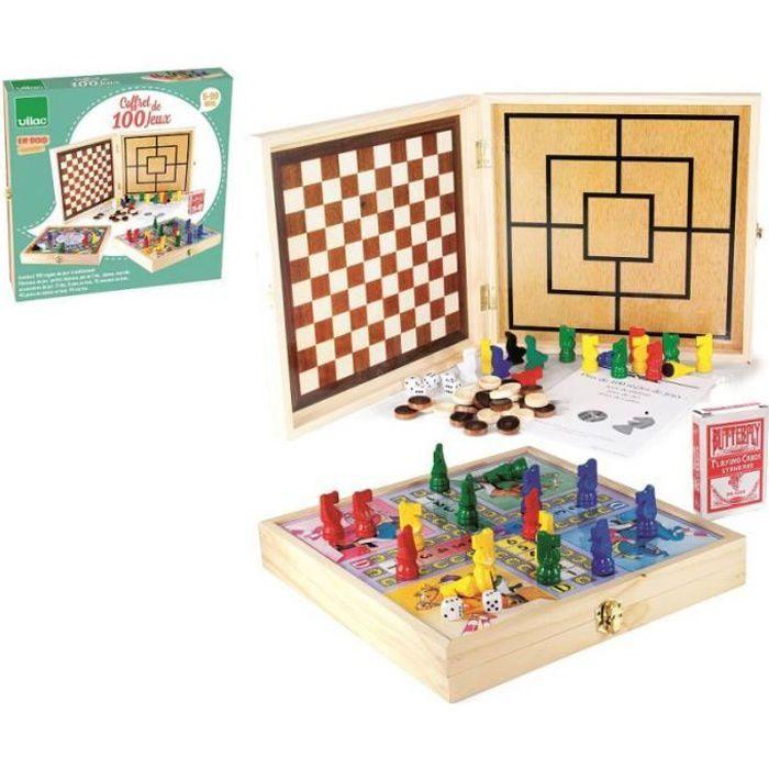 VILAC - Coffet en bois de 100 jeux