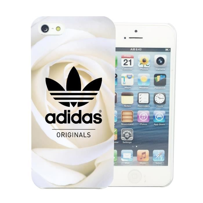 coque iphone 4 4s adidas originals roses blanche a