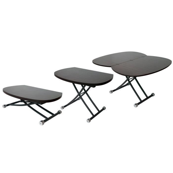 Table basse design relevable extensible weng stal achat - Table basse design relevable ...
