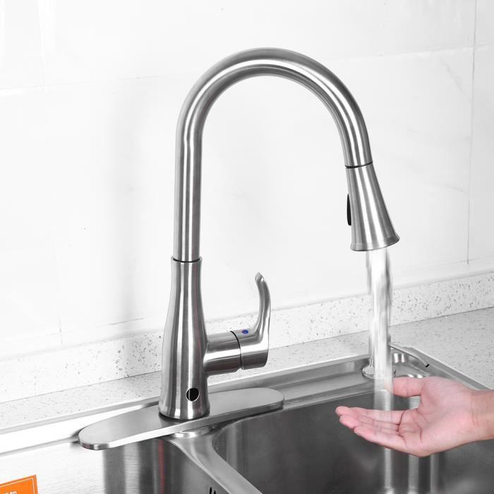 robinet rabattable 304 cuisine en acier inoxydable robinet chaud et froid pliant rotation monotrou fen/être int/érieure /évier lavabo /évier bassin robinet court
