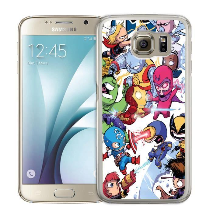 Coque Samsung Galaxy S5 Mini Cute Marvel Heroes