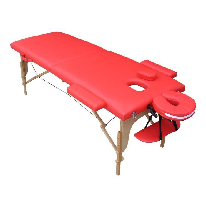 M4r table de massage rouge pliante portable bois achat vente table de massage m4r table de - Table de massage pliante bois ...