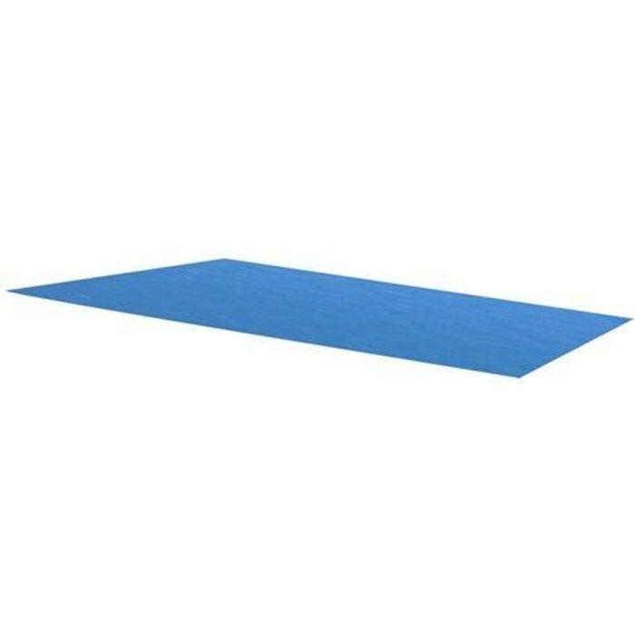 BÂCHE - COUVERTURE  Bâche de piscine bleue rectangulaire en PE 450 x 2