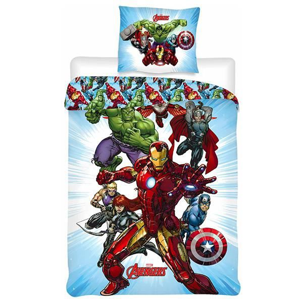 housse de couette taie avengers achat vente housse. Black Bedroom Furniture Sets. Home Design Ideas