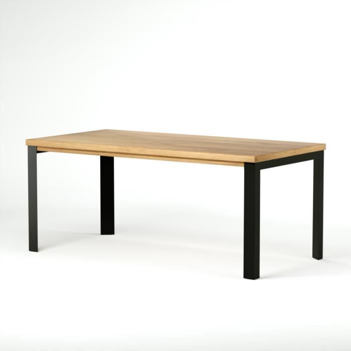Table bois et m tal 180 cm city couleurs des alpes achat for What is table in html