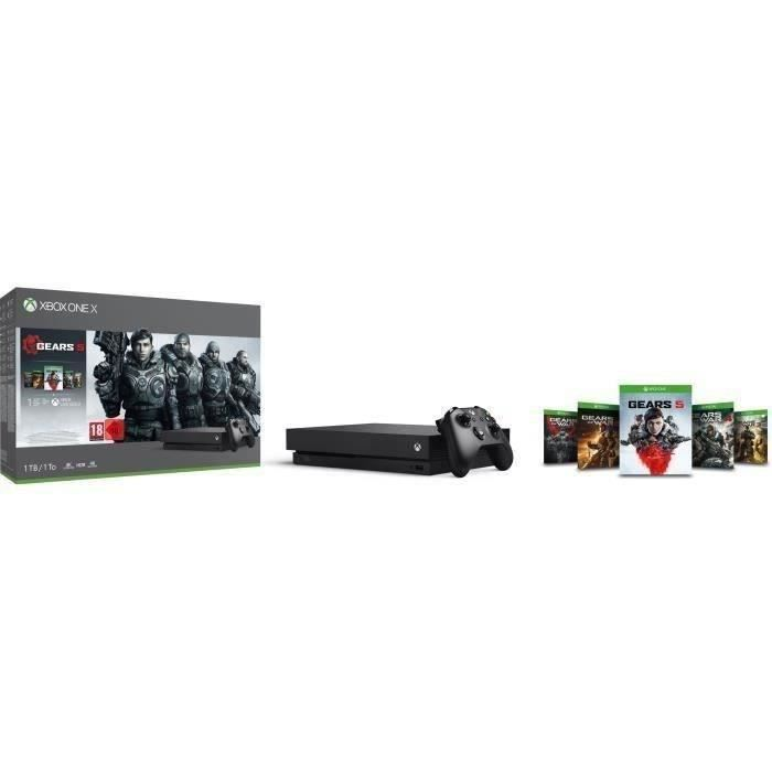 CONSOLE XBOX ONE Xbox One X 1 To + 5 Jeux Gears of War + 1 mois d'e