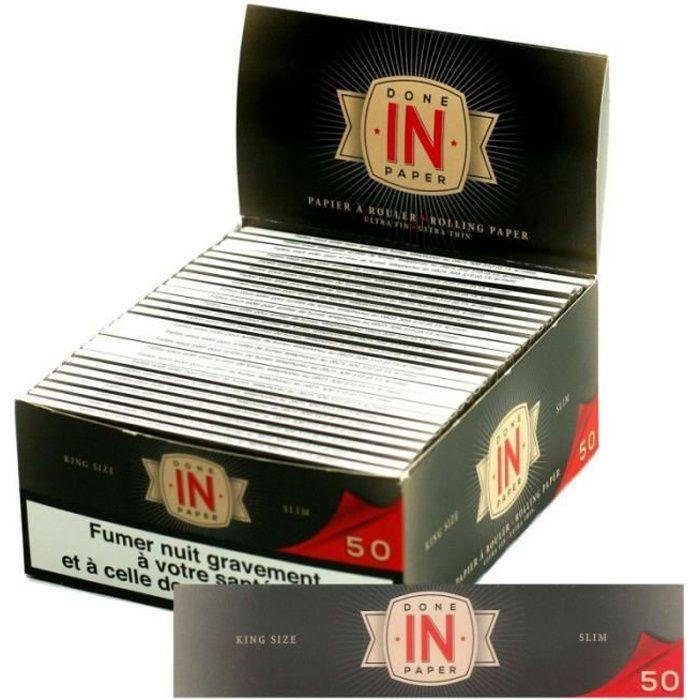Smoking SMK Slim Boite 50 Carnets de 32 Feuilles longues à Rouler 110 x 44mm