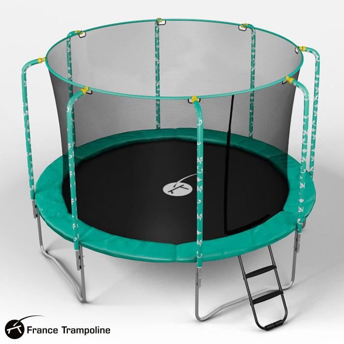 trampoline rond 3m00 avec filet oxygen achat vente trampoline cdiscount. Black Bedroom Furniture Sets. Home Design Ideas