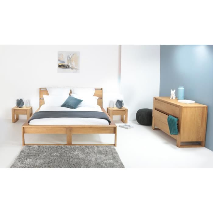 lazy lit adulte scandinave en bois ch ne massif huil l 140 x l 190 cm achat vente. Black Bedroom Furniture Sets. Home Design Ideas