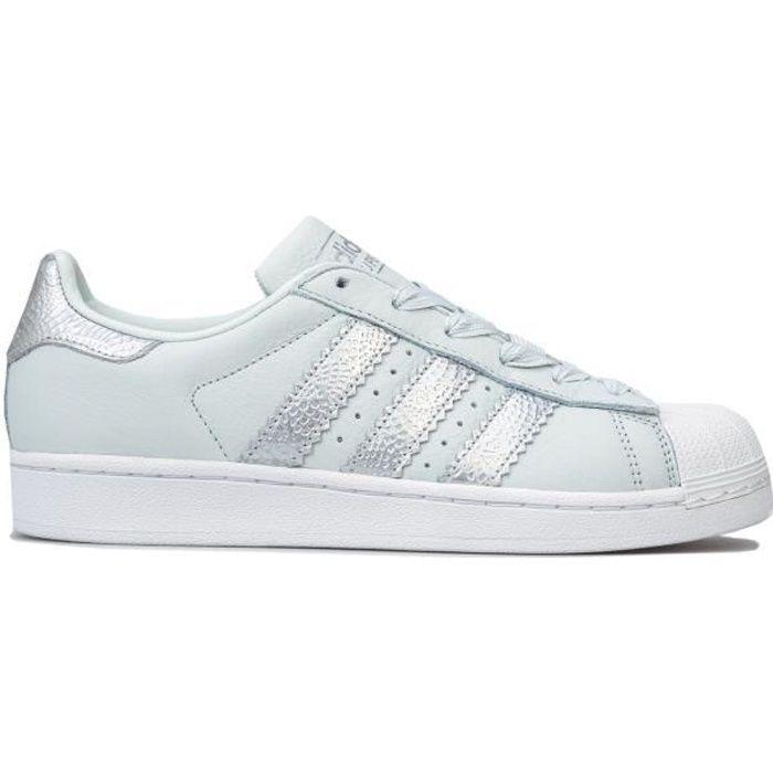 adidas Originals Baskets Superstar Bleu Clair Femm
