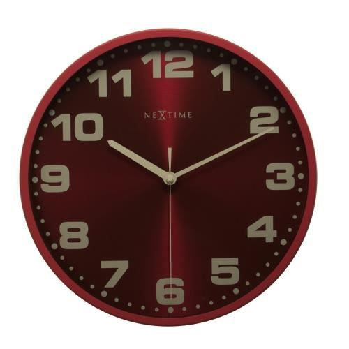 horloge murale nextime dash 35 cm rouge achat vente. Black Bedroom Furniture Sets. Home Design Ideas