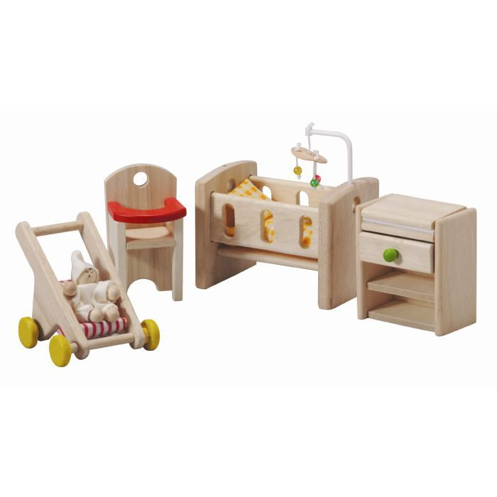 plantoys jouets en bois la chambre a b b achat vente univers miniature cdiscount. Black Bedroom Furniture Sets. Home Design Ideas