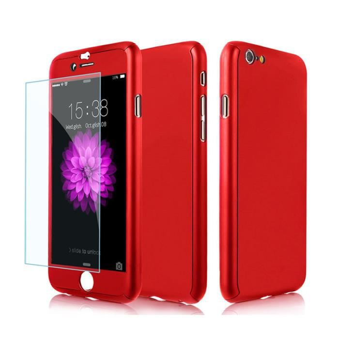 coque integrale iphone 6 rouge achat vente coque integrale iphone 6 rouge pas cher cdiscount. Black Bedroom Furniture Sets. Home Design Ideas