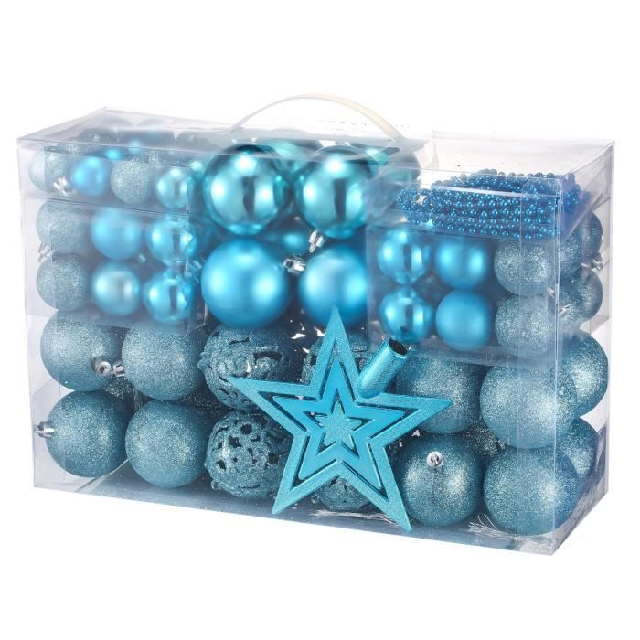 boule de noel bleu achat vente boule de noel bleu pas cher cdiscount. Black Bedroom Furniture Sets. Home Design Ideas