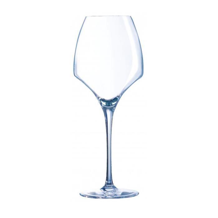 Verre à vin Lot de 24 verres à pied en cristallin Open'up - 40
