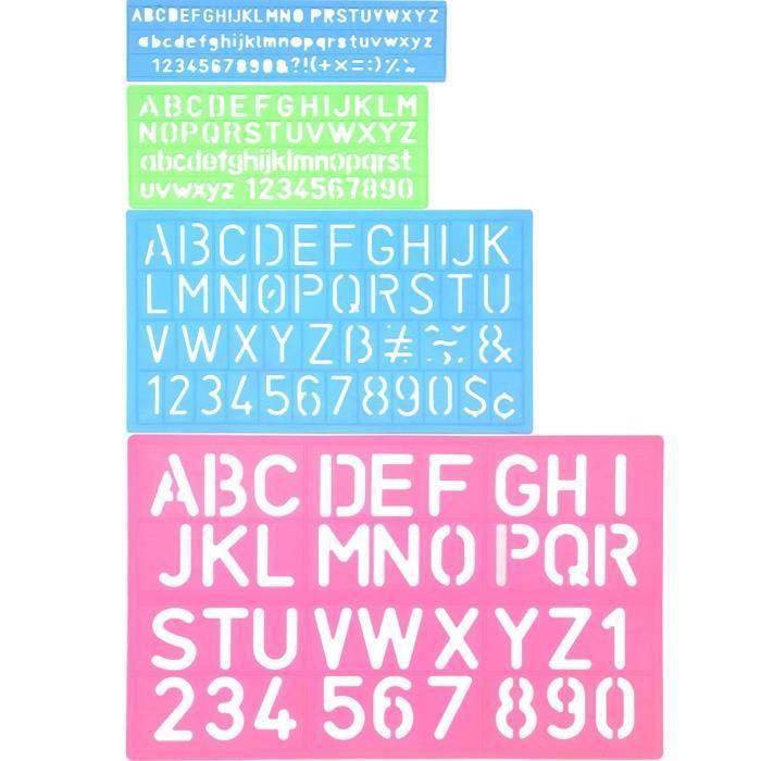 Police-gabarit Nº 19 Alphabet Lettres environ hauteur 3cm