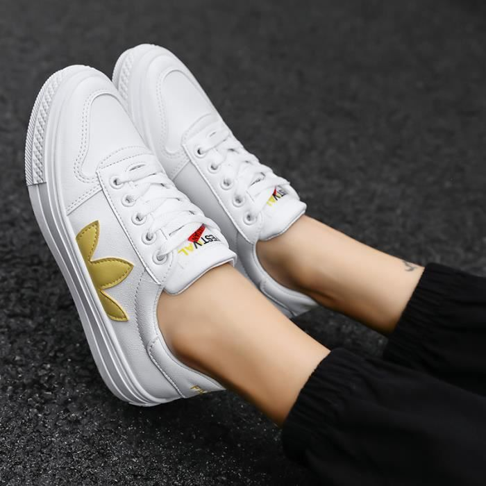 Baskets Femme Fille Chaussures de Sports Sneakers jaune36
