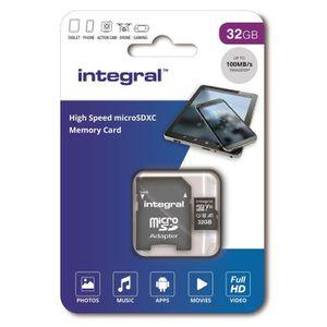 CARTE MÉMOIRE INTEGRAL MEMORY Micro SDXC 32GB Haute Vitesse 100M