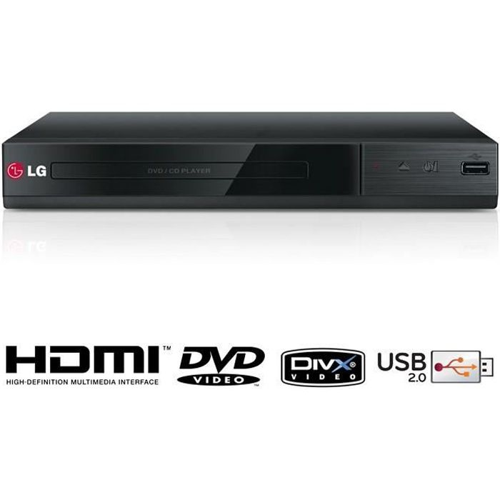 lg dp132h lecteur dvd divx hdmi achat vente lecteur. Black Bedroom Furniture Sets. Home Design Ideas