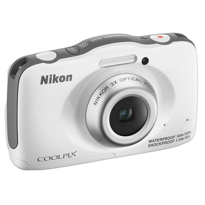 nikon coolpix s32 compact tanche blanc achat vente. Black Bedroom Furniture Sets. Home Design Ideas