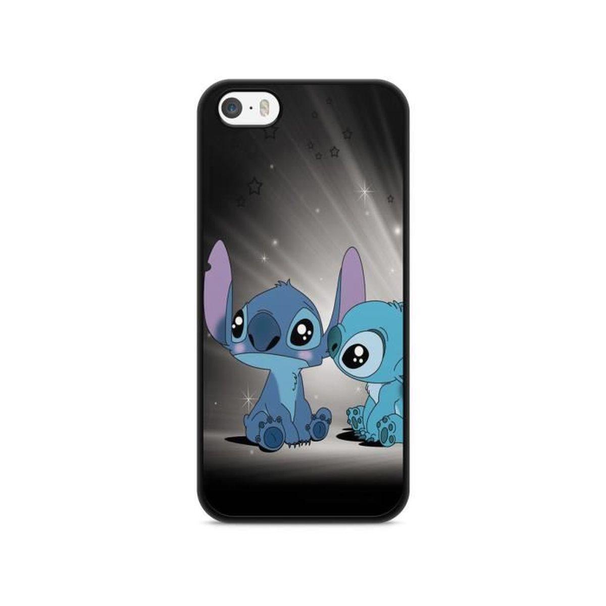 coque iphone 5 5s se lilo stitch tortue love o