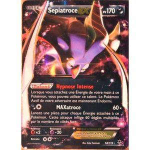 CARTE A COLLECTIONNER carte Pokémon 58-119 Sepiatroce EX 170 PV ULTRA RA