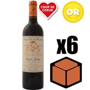 VIN ROUGE X6 Château La Bridane 2016 75 cl AOC Saint-Julien