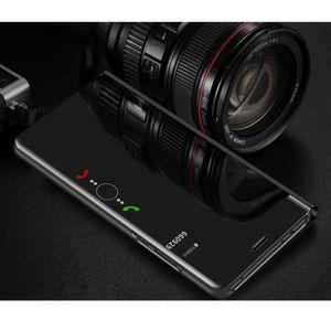 HOUSSE - ÉTUI Miroir Coque Huawei Mate 10 Pro Coin Complet étui
