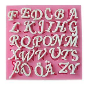 MOULE  moule lettres en silicone pour pâte à sucre décora