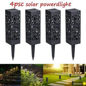 BALISE - BORNE SOLAIRE  4pcs LED Lampe Énergie Solaire Décoration Extérieu