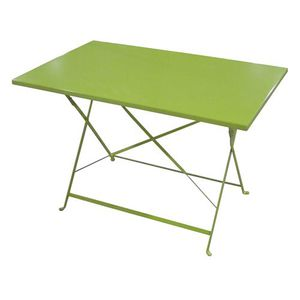 Table de jardin pliante verte