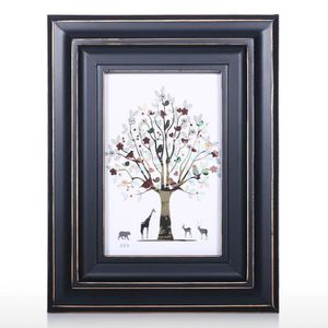 CADRE PHOTO Cadre photo en bois noir pour la décoration de tab