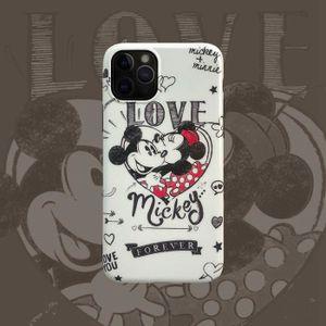 COQUE - BUMPER Coque iPhone 11,Disney Mickey Minnie Rouge Anticho