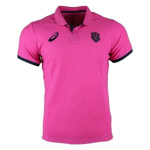 MAILLOT DE RUGBY Stade Francais Rugby Media Polo 2017 - Sport Pink